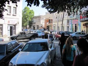 Strassenbild Tiflis Altstadt