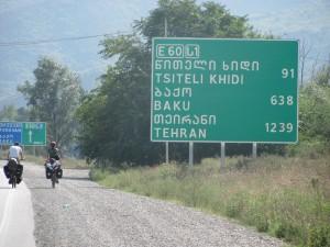 Schild nach Teheran