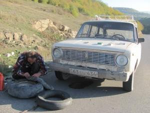 Reifen flicken