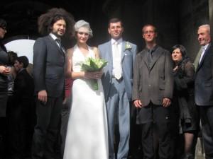 Foto mit Hochzeitspaar