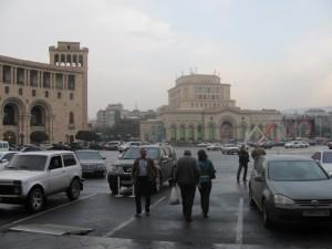 Yerevan im Regen