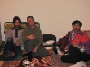 mit Yashid im Zimmer