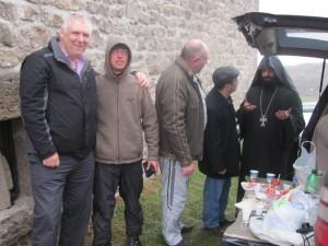 Priester und Wodka