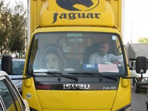 Fahrer mit Beifahrerin